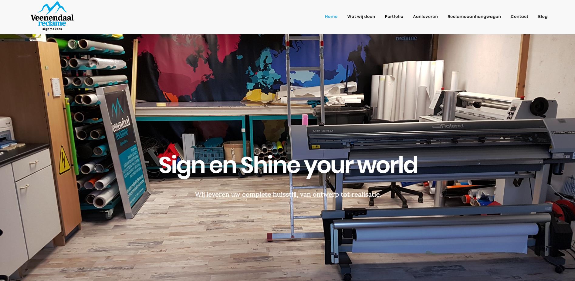 Vernieuwde website van Veenendaal Reclame
